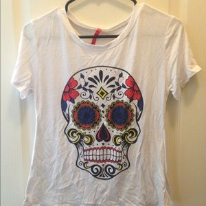 Day of the dead skull top